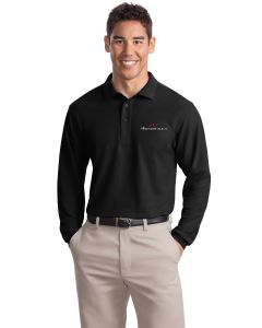 Embroidered Long Sleeve Silk Touch Polo