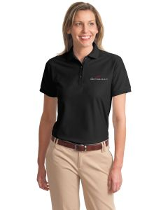 Embroidered Ladies Silk Touch Polo.  L500