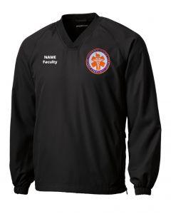 Sport-Tek V-Neck Raglan Wind Shirt. JST72