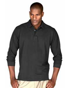 Mens L/S Soft Touch Blended Pique Polo