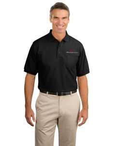Embroidered Silk Touch Polo with Pocket