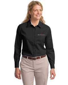 Embroidered Ladies L/S Easy Care Shirt