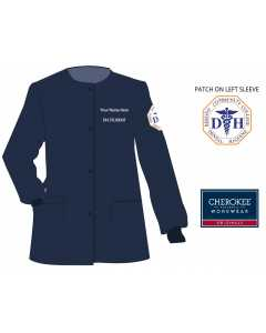 Ladies Cherokee Workwear Professionals Snap Front Warm-Up Jacket